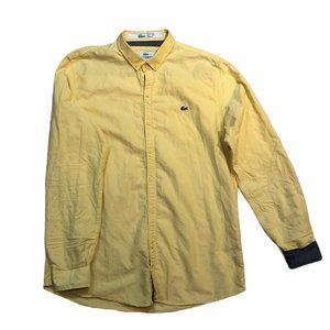 Lacoste Case Study Yellow Mens Long Slee E Casual